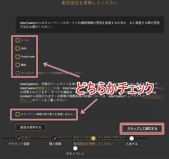 インターカジノ登録画面4